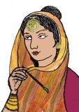 Shoni huvudrollsinnehavare av populära tragiska romaners av Punjab vektor illustrationer