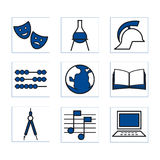 Shoolicons1blue Stock Image