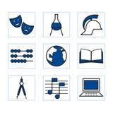 Shoolicons1blue Stock Image