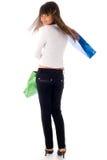 shooping的女孩 免版税图库摄影