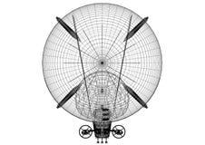 Airship Design Architect Blueprint - isolated. Shoot Of The Airship Design Architect Blueprint - isolated stock illustration