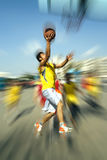 Shoot a basket(motion blur) Royalty Free Stock Image