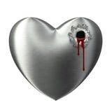 Broken heart bleeding shoot hole royalty free illustration