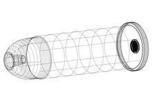 Bullet Architect blueprint - isolated. Shoot Of The Bullet Architect blueprint - isolated Stock Image