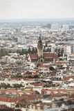 Shoot of a church in berlin, aerial view Stock Images