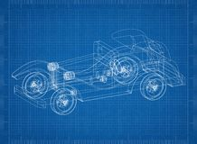 Old classic car sketch stock photos 11 images classic old car 3d blueprint shoot of the classic old car 3d blueprint royalty free malvernweather Gallery