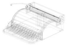 Classic Typewriter Architect blueprint - isolated Stock Photo
