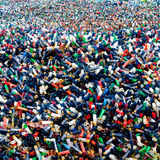 Shoot colors. A lot of colourful empty gun shells Royalty Free Stock Photography