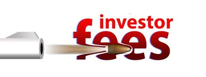Shoot down those fees. Investor fees, bank fees, credit card fees, mortgage fees eliminated. stock illustration