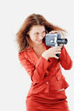 Shoot a film Royalty Free Stock Photography