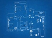 Floor Plan Architect Blueprint. Shoot Of The Floor Plan Architect Blueprint Royalty Free Stock Image