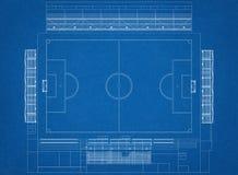 Football field Architect Blueprint