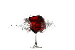 Shoot by glass with red wine. XXL. Stock Photo