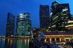 Clifford Pier Singapore. Shoot of Historical Clifford Pier, with Marina Highrise as background Royalty Free Stock Image