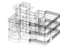 House architect design blueprint - isolated Stock Photo