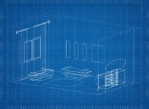 Living Room Architect blueprint. Shoot Of The Living Room Architect blueprint Stock Photo