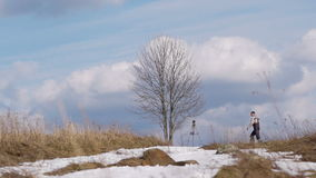 Shoot the lone tree stock footage