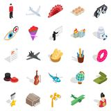 Shoot a movie icons set, isometric style. Shoot a movie icons set. Isometric set of 25 shoot a movie vector icons for web isolated on white background Royalty Free Stock Photos