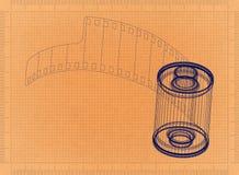 Photographic film - Retro Blueprint. Shoot of the Photographic film - Retro Blueprint Stock Photos