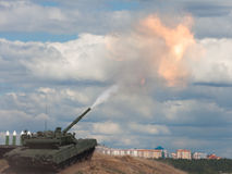 Shoot. Russian main battle tank. Stock Images