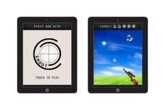 Shoot skill app template design Royalty Free Stock Photos