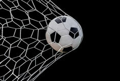 Free Shoot Soccer Ball In Goal Stock Photography - 56253912