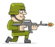 Shoot The Soldiers. Colored And Isolated. Handmade Style Vector
