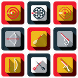 Shoot and target icon set Royalty Free Stock Image