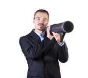 Shoot the target with your presentation. Royalty Free Stock Photography
