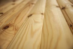 Shoot of Wooden desk in perspective background texture Royalty Free Stock Photos