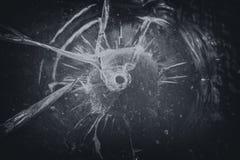 Shooted-Fensterscheibe stockbild