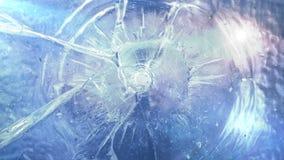 Shooted window pane - animation stock video