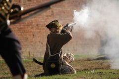 Shooter. Josephine festivals and historic battle in Terezin Royalty Free Stock Photo