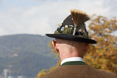 Shooter from the Association of the Salzburger Fortress Shooters in national costume, Austria. Royalty Free Stock Images