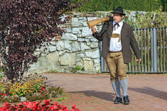 Shooter from the Association of the Salzburger Fortress Shooters in national costume, Austria. Stock Photography