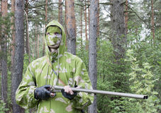 The shooter in camouflage Royalty Free Stock Photo