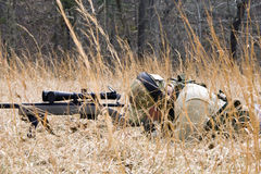 Shooter in Field Stock Image
