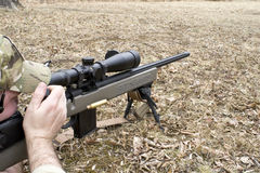 Shooter in Field Royalty Free Stock Image