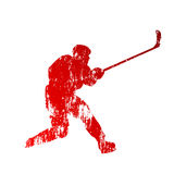 Shooting abstract hockey player Royalty Free Stock Photo