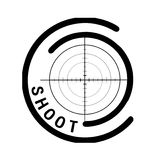 Shooting app Logo Royalty Free Stock Image