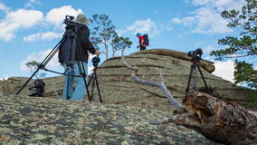 The Shooting Area in the Mountains stock footage