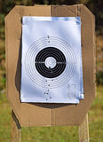 Shooting area outdoors. Aiming and shooting area outdoors Royalty Free Stock Images