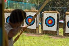 Shooting arrow Royalty Free Stock Photo