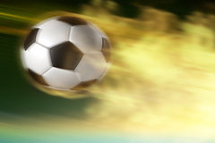 Shooting ball!. Soccer football in action of fast shooting Stock Photos