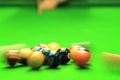 Shooting Billiards Royalty Free Stock Image