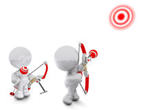 Shooting bow and arrow Royalty Free Stock Image
