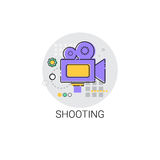 Shooting Camera Film Production Industry Icon. Vector Illustration Stock Photos