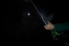 Shooting champagne Royalty Free Stock Images