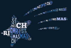 Shooting Christmas star word cloud Stock Photo