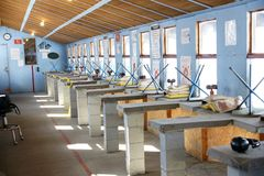 Shooting club. Picture of the shooting club Royalty Free Stock Image